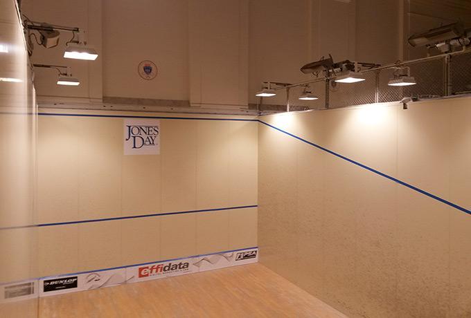 éclairage led économie énergie salle de squash