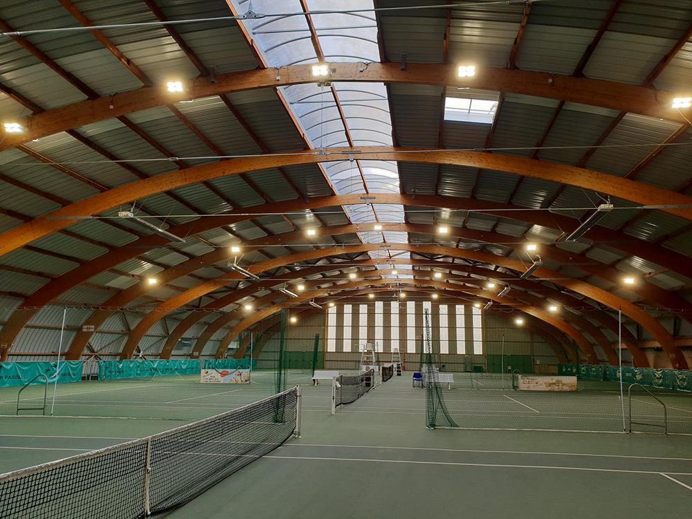 éclairage Led Court Tennis Ligue Centre Ledustry