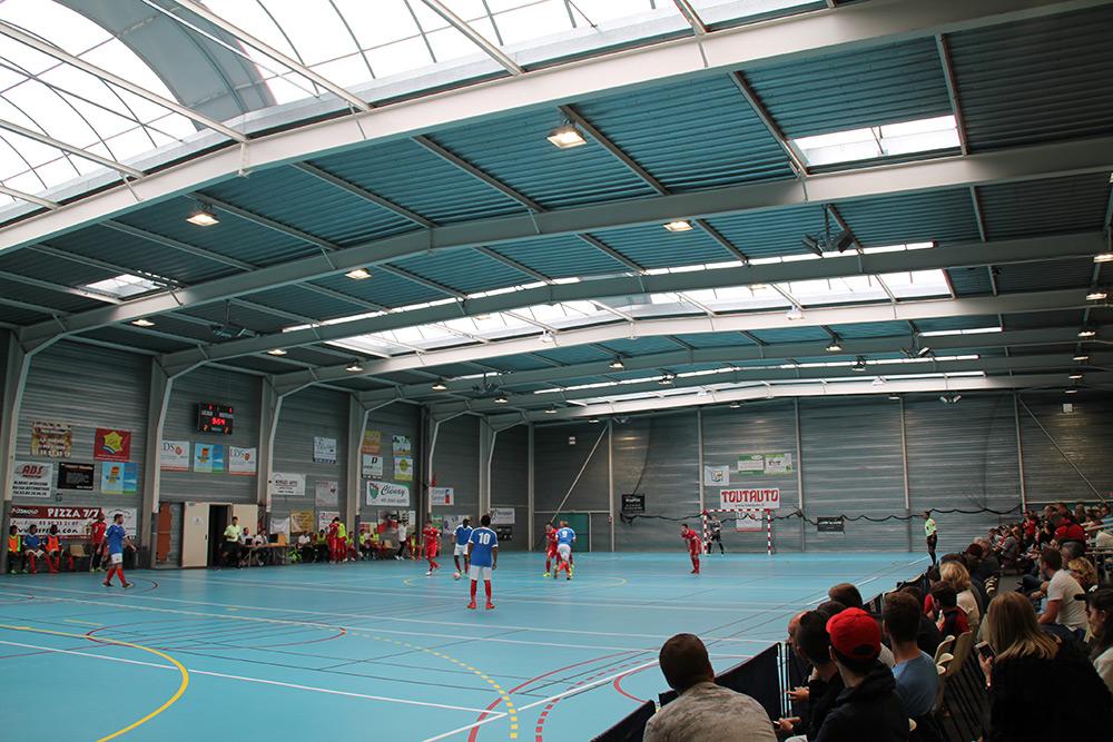 éclairage Led Gymnase Sportif Clenay