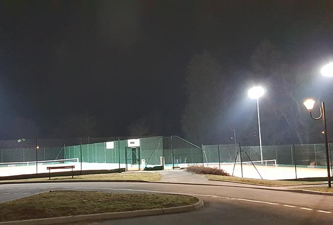 éclairage Led haute performance court de tennis