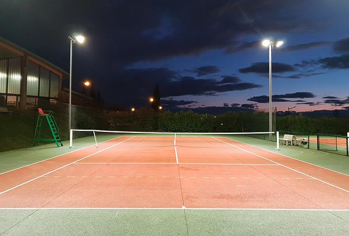 éclairage Led haute performance terrain tennis