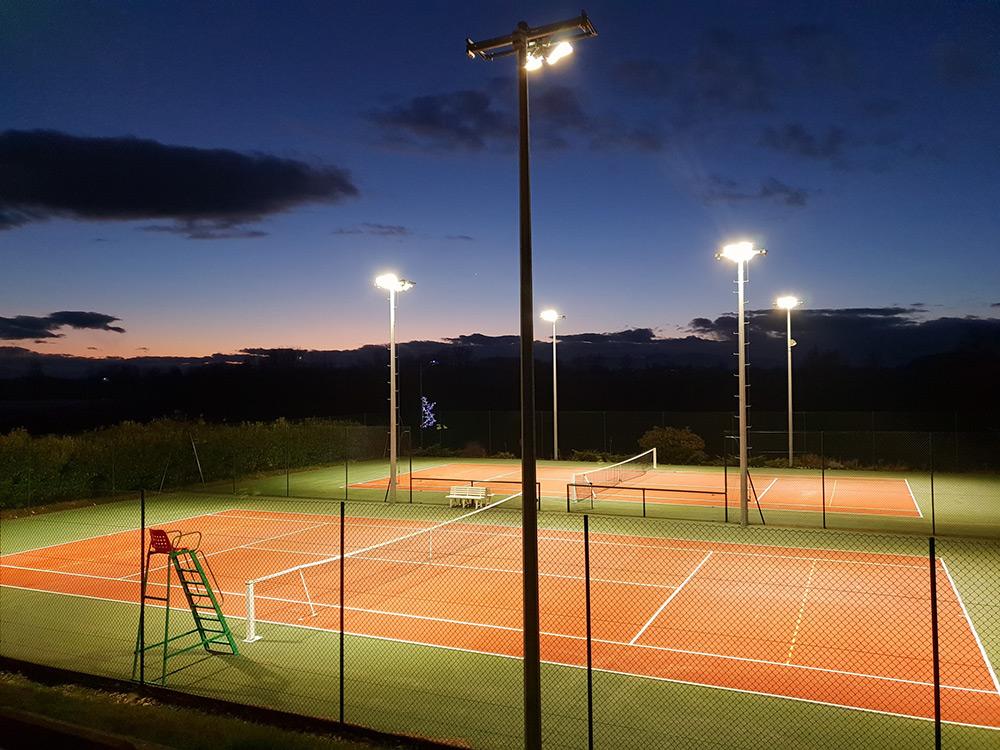 éclairage led court tennis extérieur TC Irigny