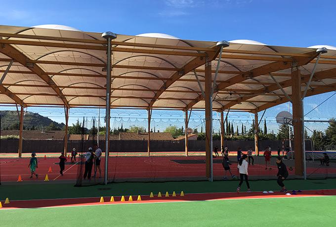 éclairage led développement durable complexe sportif