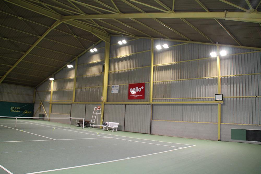 éclairage led résine tennis couverte Appoigny TC