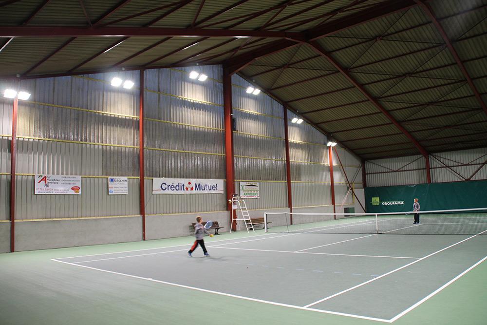luminaire led resine tennis couverte Appoigny TC